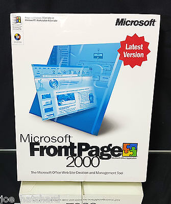 Microsoft Frontpage 2000 / Front Page - NEW/Sealed - PC Retro Software RARE!