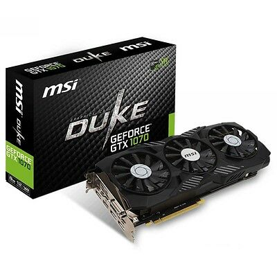 MSI nVidia GeForce GTX 1070 Duke OC 8GB GDDR5 Gaming Graphics Video Card HDMI DP