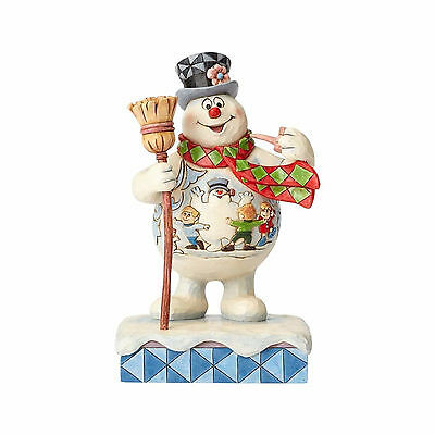 Jim Shore Frosty the Snowman with Scene On Belly Happy Birthday 4058187 NEW NIB