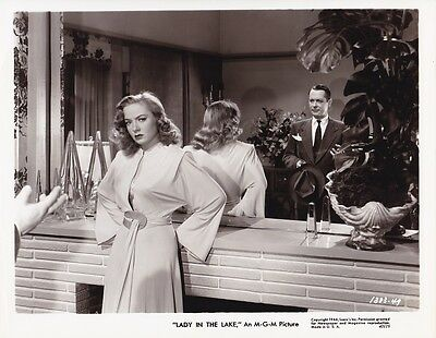 ROBERT MONTGOMERY AUDREY TOTTER Vintage '46 LADY IN THE LAKE MGM Film Noir Photo