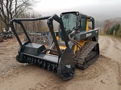 Deere 333D Track Skid Steer Fully Loaded High Flow Forestry Mulcher Work Ready!