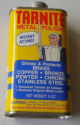 Vintage Tarnite Metal Polish for Brass Copper Stainless  9 oz Full Can   (inv40)