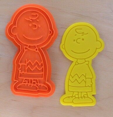 Charlie Brown - The Peanuts - Cookie Cutter and Stamp Set - 3d printed plastic