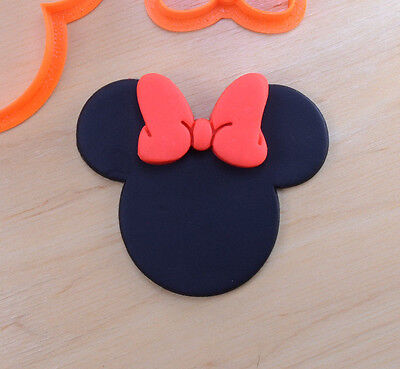 Disney Minnie Mouse and Bow Cookie Cutter Set - 3d printed plastic