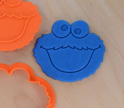 Cookie Monster Cookie Cutter and Stamp Set - 3d printed plastic