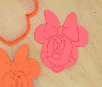 Minnie Mouse Cookie Cutter and Stamp Set - 3d printed plastic