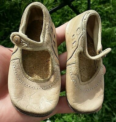 vintage antique baby or doll shoes low top buttons