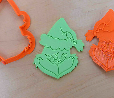 Smirking Grinch Cookie Cutter - 3d printed plastic