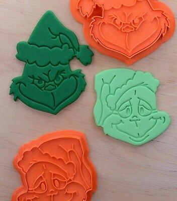 Set of 2 Grinch Cookie Cutters - 3d printed plastic