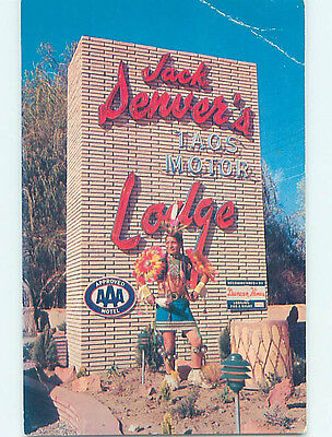 Pre-1980 NATIVE INDIAN BY SIGN FOR JACK DENVER'S MOTEL Taos New Mexico NM J7438