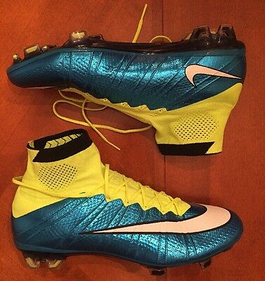 New Nike Mercurial Superfly Soccer Cleats Volt Blue Lagoon Women's Sz 9.5 718753