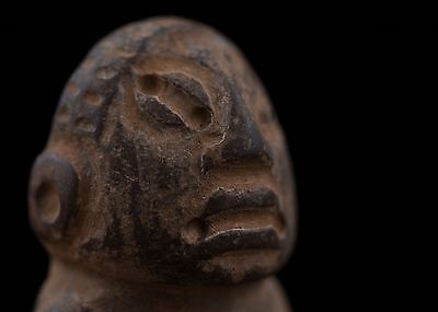 Pre Columbian Carved Stone Figurine-Antique  Statue-Olmec Mayan