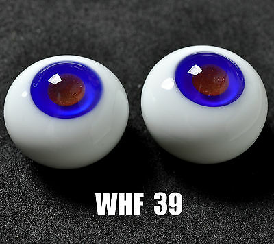 Good Red Pupil&Blue Iris 16mm Glass Eyes for Joint Reborn 1/4 BJD Dollfie