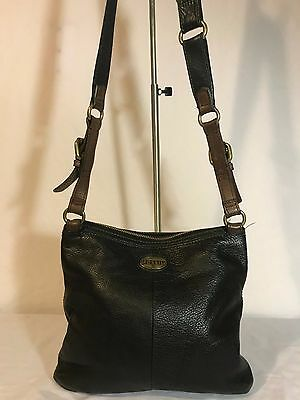 Fossil Zb5255 Explorer Crossbody Handbag Black Leather Shoulder Bag