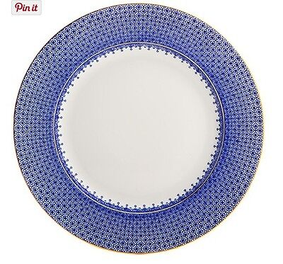 New MOTTAHEDEH Finest Porcelain China Charger BLUE LACE Dinner Plate Portugal