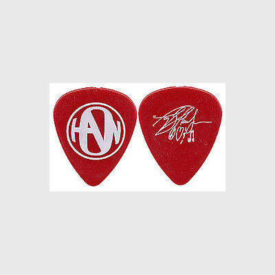 Hanson Taylor Hanson authentic 2005 tour white on red signature Guitar Pick