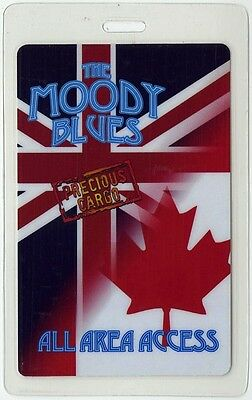 Moody Blues authentic 2011 Laminated Backstage Pass Precious Cargo Canada Tour