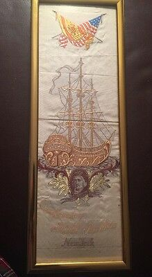 1892 Christopher Columbus 500 Yr Anniversary Banner Hill Brothers New York