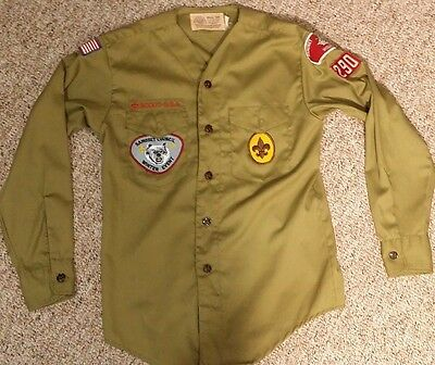vintage BSA Boy Scouts of America Youth Uniform Shirt 1978 Samoset Council