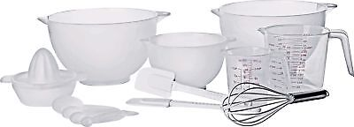 HOME 10 Piece Plastic Baking Starter Set - White -From the Argos Shop on ebay