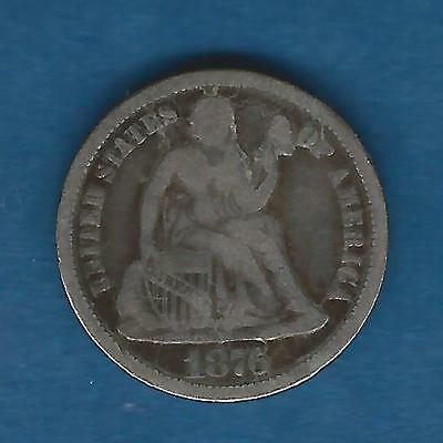 1876 Seated Liberty Dime VG