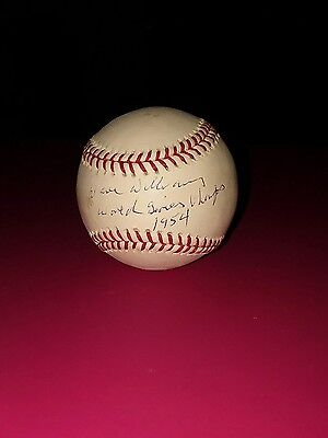Dave Williams autographed baseball