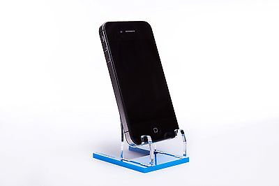 Smartphone Cell-Mobile Phone Display Stand-Wholesale lot of 5 Blue
