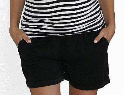 BNWT black tencel maternity shorts size M (12) pants summer NEW