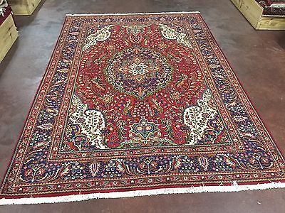"""Great Hand Knotted TABRIZ Persian Rug Carpet Floral  7x10,6'9""""x9'9"""""""