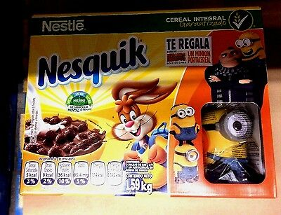 minions 3 Exclusive Mexican promo cereal container no movie cup