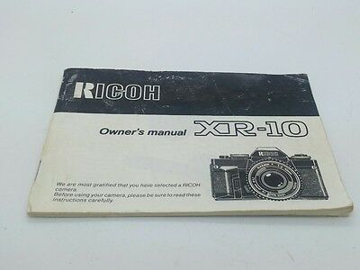Original Owner's Manual for RICOH XR-10 film camera  32p