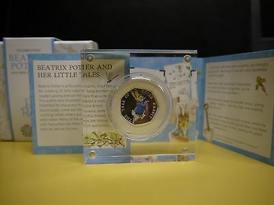 NEW 2017 *PETER RABBIT* BU BEATRIX POTTER Coloured Silver Proof 50p Pence Coin