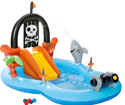 Inflatable Pirate Play Center Intex Pool Fun Outdoor Swimming New