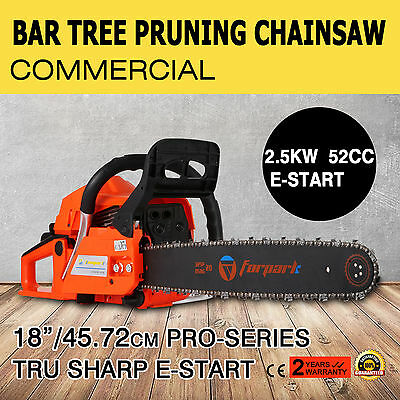 "New Vevor 52cc Petrol Commercial Chainsaw 18"" Bar Chain Saw tree pruning"