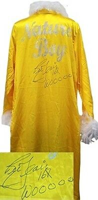 Nature Boy Ric Flair Signed Yellow Feathered Wrestling Robe Woooo Inscr. JSA