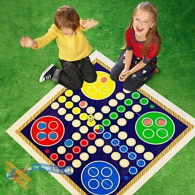 Giant Snakes and Ladders or Ludo Play Mat Board Traditional Childrens Game Ludo