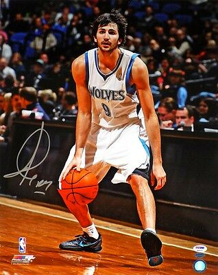 Ricky Rubio Signed Minnesota Timberwolves 16x20 Photo PSA