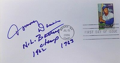 Tommy Davis Los Angeles Dodgers Signed First Day Cover NL Bat Champ Ins.