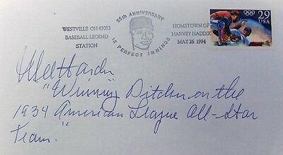 Mel Harder Cleveland Indians Signed First Day Cover Winning Inscribed
