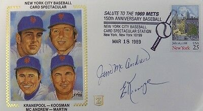 Jim McAndrew Ed Kranepool New York Mets Signed First Day Cover