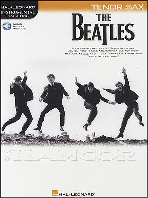 The Beatles Instrumental Play-Along for Tenor Sax Sheet Music Book with Audio