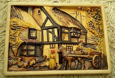 Vintage Chalkware  Wall Plaque 3D Picture
