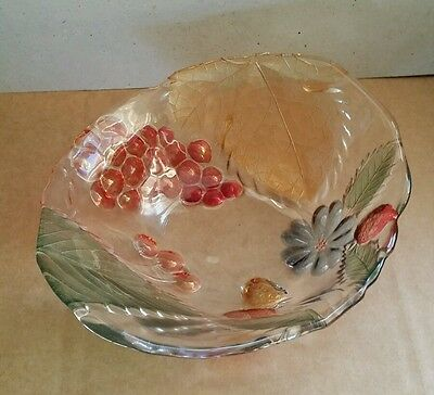 SOGA Japan Glass Bowl /Dish with Fruit / Floral Design