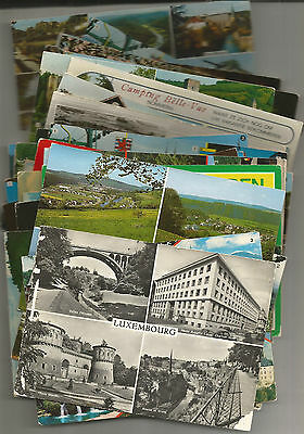 Super Lot Of 81 Postcards From Luxembourg, 17 Stamps, 1952 Onwards