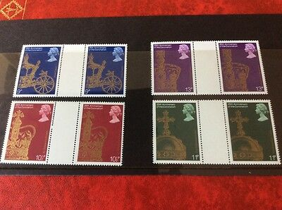 GB mint stamps  -1978 25th Anniversary Coronation QEII Gutter Pairs