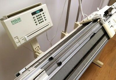 PASSAP E6000 ELECTRONIC Knitting Machine Tricoter COLOR 600+STAND_Strickmaschine