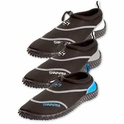 Swarm Aqua Shoes /Boots ideal for Kayaking, Beach, Size 6 COLOUR BLACK/GREY