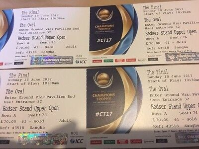 Icc Champions Trophy Final  1 Gold Ticket