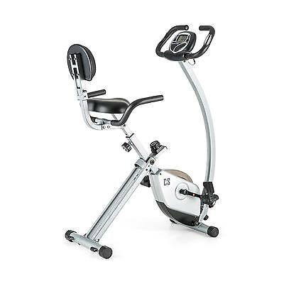 Capital Sports Ergometer Trainings Fahrrad Sitz Heimtrainer Trimmrad Silber