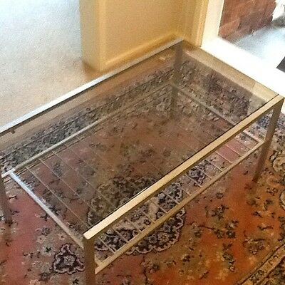 Glass top coffee table with Metal Frame
